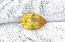 2.52 Carat 12x8 12mm x 8mm Natural Pear Golden Beryl Heliodor Gem Gemstone 1660A