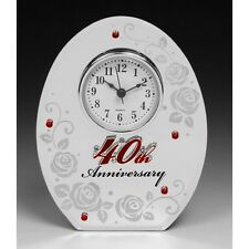 Wedding Anniversary Mirror Clock 25TH Silver 30TH Pearl 40TH Ruby 50TH