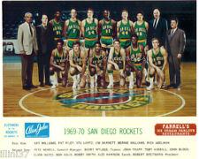 1969-70 SAN DIEGO ROCKETS NBA BASKETBALL 8X10 TEAM PHOTO ELVIN HAYES PAT RILEY