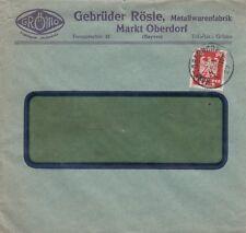 MARKT OBERDORF, Briefumschlag 1927, Gebrüder Rösle Metallwaren-Fabrik