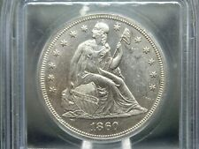"""1860 """"O"""" Seated Liberty Dollar $1 ICG MS62 East Coast Coin & Collectables, Inc."""