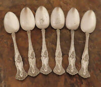 IS Vintage Grapes 6 Teaspoons 1847 Rogers Vintage Silverplate Flatware Lot A