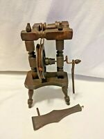 Salesman Sample Spinning Wheel Doll or Child Sized Miniature Wooden Vintage