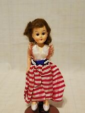 Vintage Plastic Patriotic Doll w/ open & shut eyes & movable joints missing arm