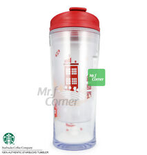 ST065 10oz Starbucks Xmas smallworld Red Snowman Snowflake Tumbler NEW