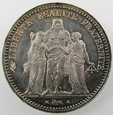 FRANCE. 5 Francs, 1873 A, Paris Mint. Cleaned XF. KM# 820.1