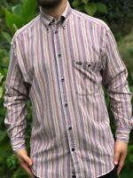 MISSONI SPORT Striped Multi-Color Casual Dress Shirt Size M Cosby Retro Coogi