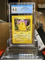 ⚡️BASE SET⚡️Pikachu 58/102 Pokemon Card CGC 9.5 GEM MINT - BGS PSA SA2