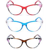 Women Lady Floral Reading Glasses Readers Plastic Frame Eyeglasses +1.0 - 4.0