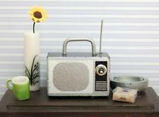 1/12 Mini Protable Retro TV Television for Dollhouse Furniture Home Decor