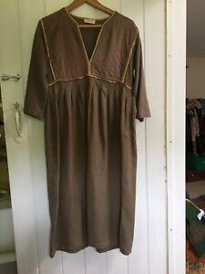 Vintage Toast Ethnic Indian Smock Dress Size 10