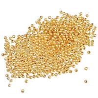 1000 Neu Vergoldet glatt Kugel Spacer Perlen Beads 3mm D. hello-jewelry