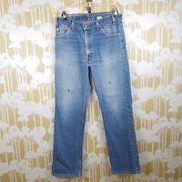 Vintage Levi's Orange Tab Men's 34 X 32  517 Relaxed Fit Distressed Denim Jeans