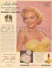 VTG 1953 Westmore Hollywood Beauty Makeup MARILYN MONROE Movie Star Film Noir AD
