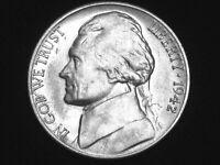 1942-D Jefferson Nickel --- Almost Uncirculated +++ --- Looks BU ! w/ Full Steps