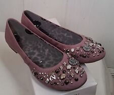 Kathy VanZeeland Ballerina Flats with Charm Detail orchid purple Shoes size 7 M