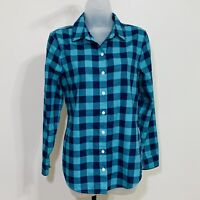 Vineyard Vines Shirt Size 4 Button-up Performance Long Sleeves Checks Blue Green