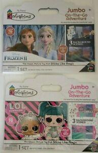 Disney's Frozen 2 & LOL Surprise Colorforms Jumbo On-The-Go Sticker Set 2 Pack