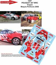 DECALS 1/32 REF 1207 PEUGEOT 307 WRC TROJANI RALLY THE MAQUIS 2006 RALLY