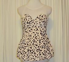 BEAUTIFUL KEEPSAKE THE LABEL LEOPARD PRINT BUSTIER TOP size M (AUS 10,US 4)