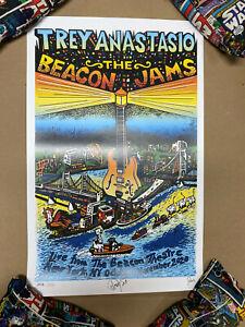 The Beacon Jams Sky Fund Variant Print #327 SIGNED Jim Pollock Trey Anastasio