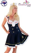 Ladies Sailor Pin up Navy Uniform 50s dress Sailor Girl Costume Size 6 - 16 AU
