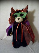 "Halloween Devil Costume Plush Bear, 15"", Shimmery Cape, Trident, Mask, Horns"