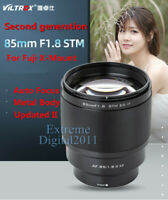 Viltrox New Version 85mm F1.8 STM Auto Focus Metal AF Lens for Fujifilm X Mount