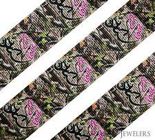 "High Quality 7/8"" Browning Heart Camo Printed Grosgrain Ribbon Hair Bow"