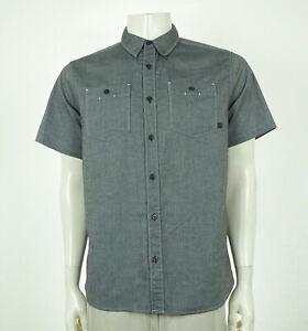 Mountain Hardwear Gray Chambray Tech Button Shirt Mens Medium