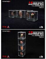 """1/6 Scale TOYS-BOX Transparent Dustproof box For 12"""" Action Figure Head Sculpt"""