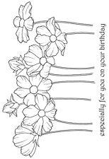 Woodware claro singles Sello-Cosmos Flores JGS489
