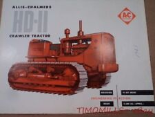 1959 Allis Chalmers HD-11 Crawler Tractor Catalog Brochure Vintage Original