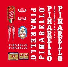 PINARELLO TREVISO 1985 SL FRAME DECAL SET WHITE