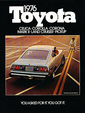 1976 Toyota Car Brochure Catalog - Celica Corolla Pickup Truck Land Cruiser