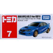 Takara Tomy Tomica #7 Subaru Impreza WRX STI 4door R4 1/67 Diecast Toy Car JAPAN