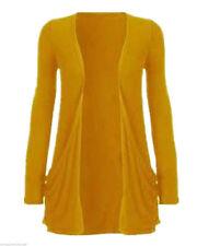 Womens Ladies Boyfriend Cardigan  Long Sleeve Pocket New Open Jumper Plus size