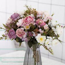 New ListingSilk Artificial Small Rose Flowers For Wedding Decor Home Party Decor Bouquet