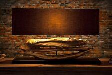 fait main Lampe de table hauteur:55cm moderne bois flottant toile