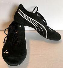 PUMA ETOILE SUEDE Womens Size 6 Casual Shoes Black / White – Sleek! 348689 01