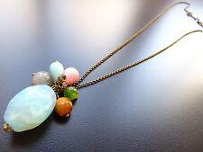 Modeschmuck-Halsketten & -Anhänger aus Messing mit Türkis-Hauptstein für Damen