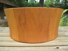 Vtg Nissen Denmark Dansk Wooden Salad Serving Bowl Large Teak Staved Wood Danish