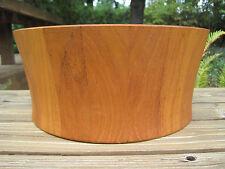 Vtg Nissen Dansk Staved Teak Wooden Salad Serving Bowl Denmark Large Wood MCM