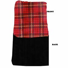 Mirage Pet Products Luxurious Plush Carrier Blanket Red Plaid