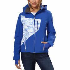 NWT Ladies Blue White Spyder Pandora Waterproof Hooded Ski Jacket Size US14