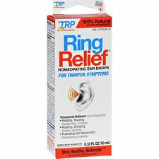 TRP Ring Relief Homeopathic Ear Drops Tinnitus Symptoms 10ml .33oz