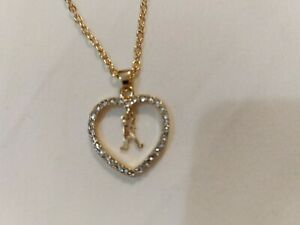 A Pendant Necklace,gold Colour Chain,ELPHABET Rosary ,chain ,jewellery  UK