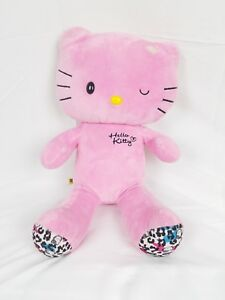 BAB Build a Bear Hello Kitty Pink Winking Plush Leopard Print Paws XL 19 inches