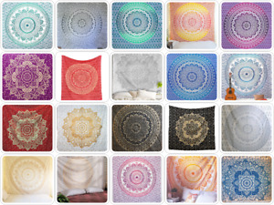 Indian Hippie Mandala Psychedelic Bedding Floral Wall Art Deco Bohemian Tapestry