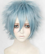 My Boku no Hero Academia Tomura Shigaraki Short Mixed Grey Blue Cosplay Hair Wig